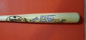 Lenny Dykstra 1986 World Series Autographed Louisville Slugger Bats 3