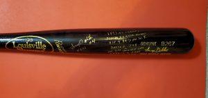 Lenny Dykstra 1993 World Series Autographed Louisville Slugger Bats 5
