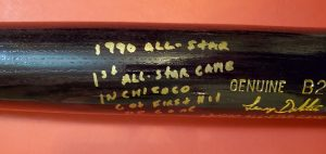 Lenny Dykstra 1990 All Star Game Autographed Louisville Slugger Bats 4
