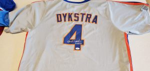 Lenny Dykstra Autographed and Inscribed Custom Mets Gray Jersey v1