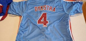 Lenny Dykstra Autographed and Inscribed Custom Phillies Powder Blue Jersey v1