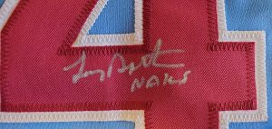 Lenny Dykstra Autographed and Inscribed Custom Phillies Powder Blue Jersey v2