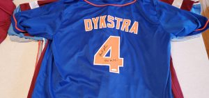 Lenny Dykstra Autographed and Inscribed Custom Mets Blue Jersey v1