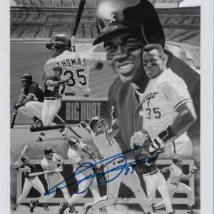 Frank Thomas Chicago White Sox B&W Tribute 16x20 Autographed Photo