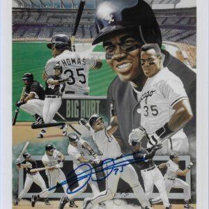 Frank Thomas Chicago White Sox Color Tribute 11x14 Autographed Photo