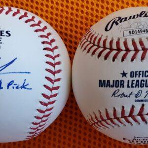 Adley Rutschman Autographed 2020 Futures Game Baseball
